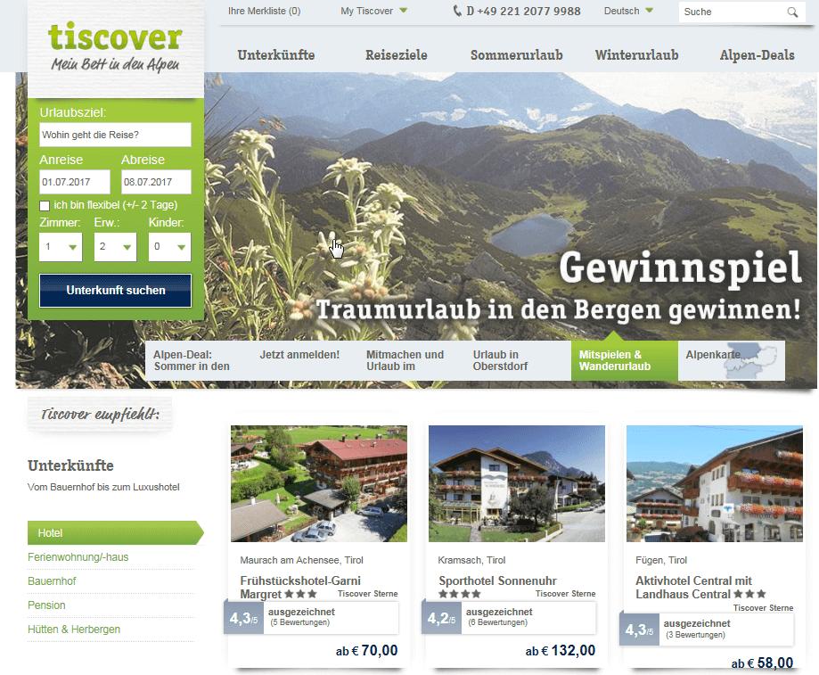 Discover Aktion Website