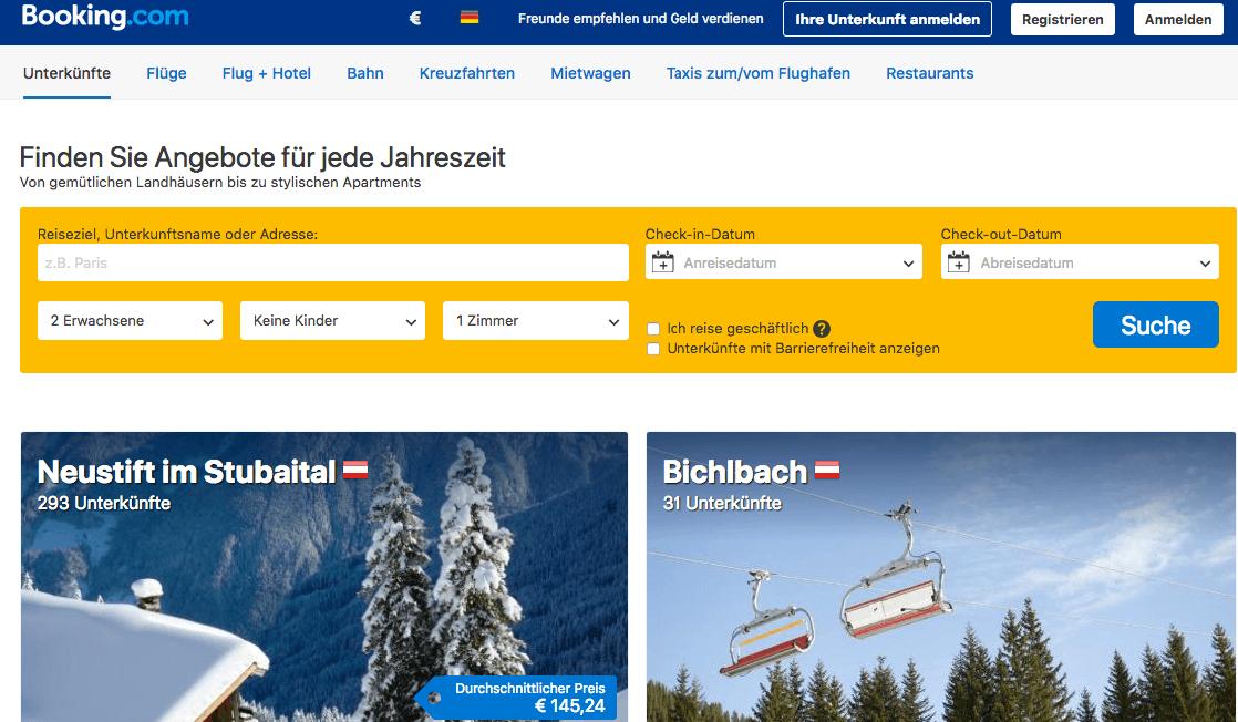 Booking.com Gutscheincode bzw. Gutschein